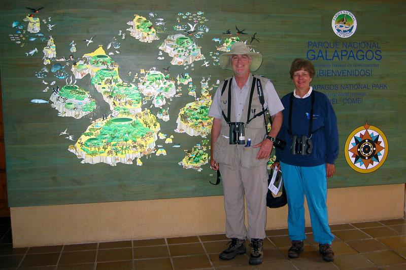 Jim and Linda in Galapagos National Park